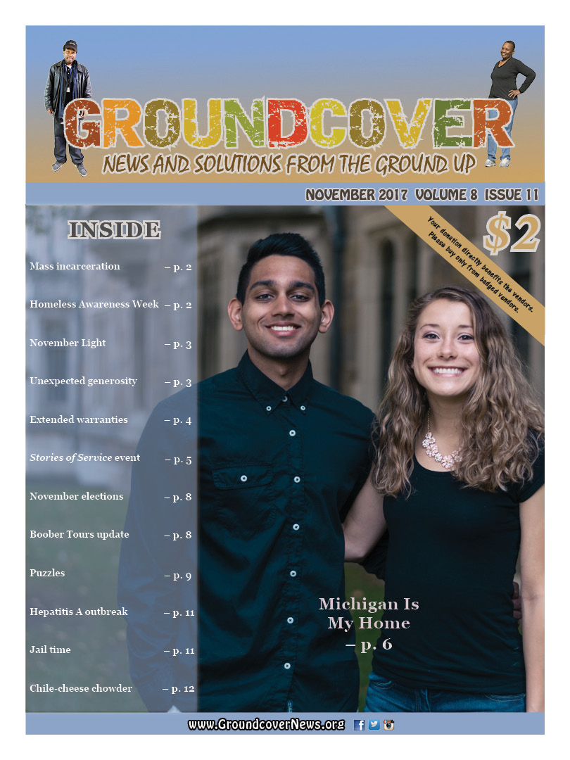 Groundcover NOVEMBER 2017 cover